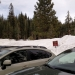 Predominantly cars headed toward the ski hut, not headed on super cool micro-adventure winter backpacking trips.