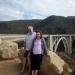 Posing in front of the Bixby Bridge