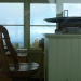 Peering inside the fire lookout
