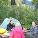 Dinner at our tent site!