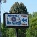 Turn off to Mystic Hot Springs in Monroe, UT