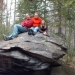 This is that picture of us also on a boulder at Canyon River Falls (in Michgan's U.P.) from 2007!