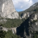 Nevada and Vernal Falls with Liberty Cap