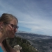 Solo hiking with my solo hiking cougar earrings (its a tradition)