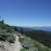 View of Lake Tahoe hiking down from Snow Valley Peak