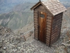 latrine off the side of the mountain