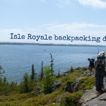 Backpacking near Rock Harbor