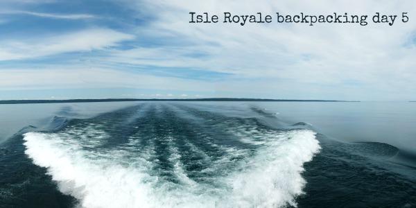 Isle Royale panorama on boat