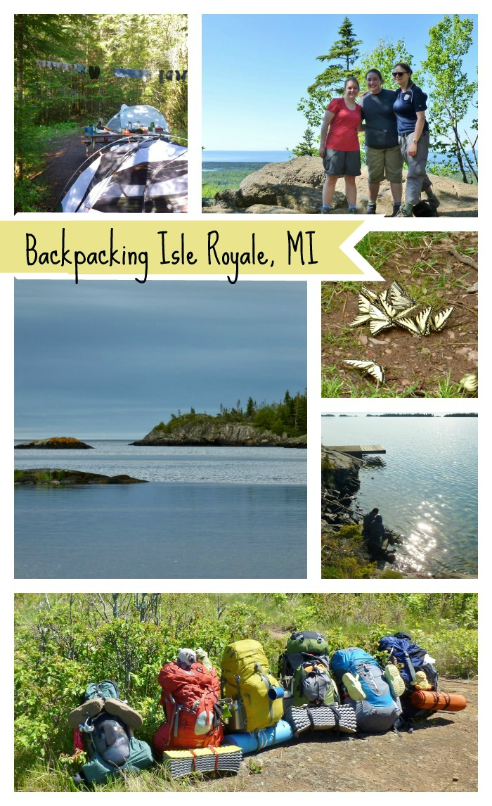 Collage of Pictures from Backpacking Isle Royale