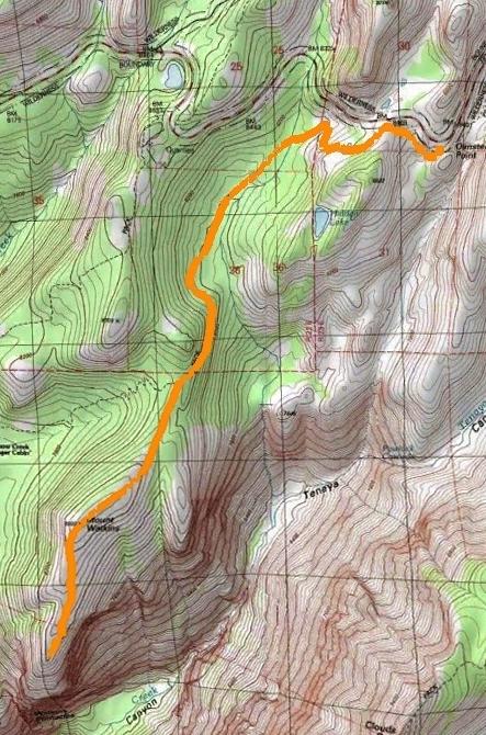 Mt Watkins Topographic Map