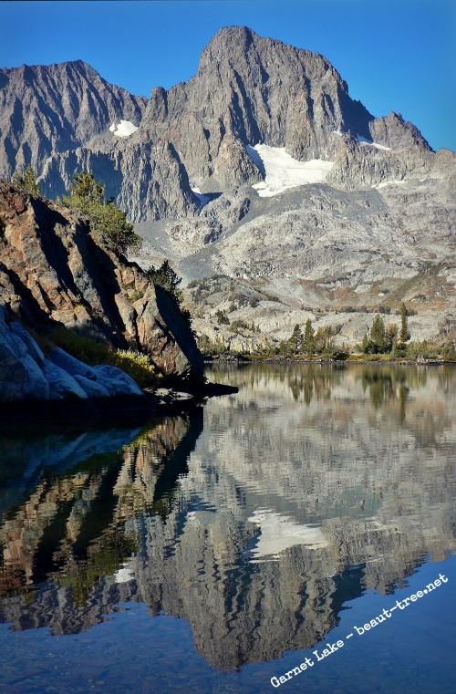 Garnet Lake morning reflections, Ansel Adams Wilderness
