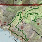 Topographic Map Tanbark Trail