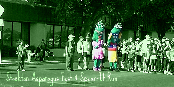 Stockton Spear-It Run - the only run with Asparagus mascots?!