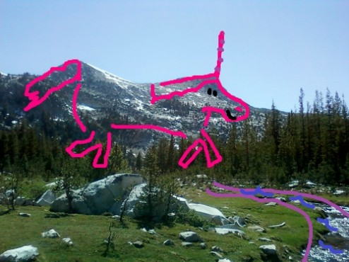 Unicorn Peak and Unicorn Creek - Do you see it now?
