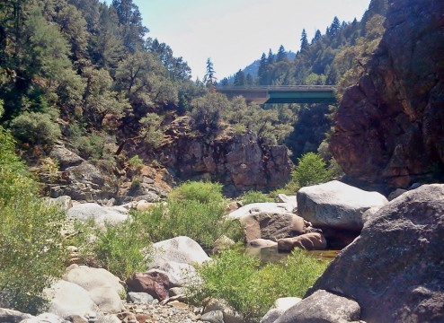Cottonwood Bridge Above the Clavey River