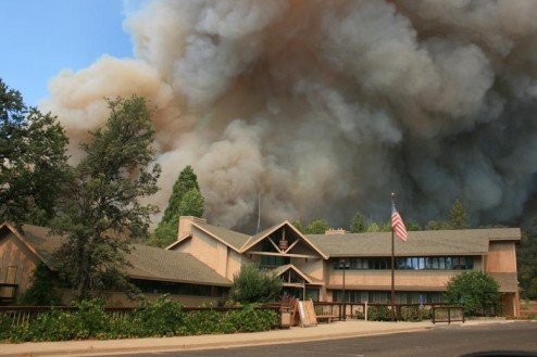 Groveland Forest Service Office during the Rim Fire