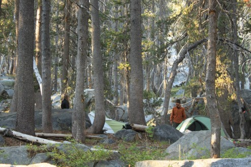 Camp on Day 3 of Backpacking to Ottoway Lake