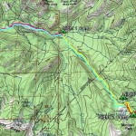 Topo Map of  trip Backpacking from Mono Meadows to Ottoway Lake, Yosemite