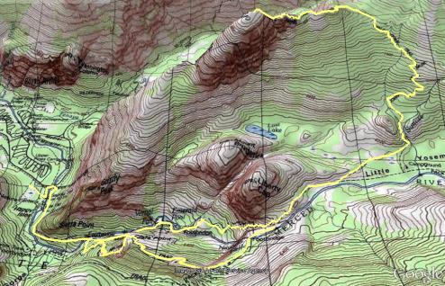 Half dome Topographic Map