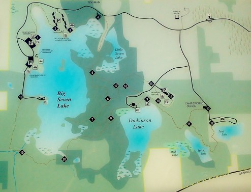 Seven Lake Hiking Map