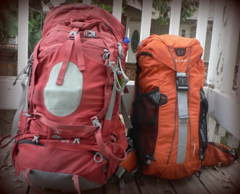 Orprey and Camp Backpackes