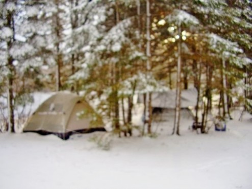 How to deal with unexpected winter camping