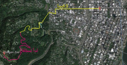 Hike from the Portland Zoo to the Deschutes Brewery in Portland