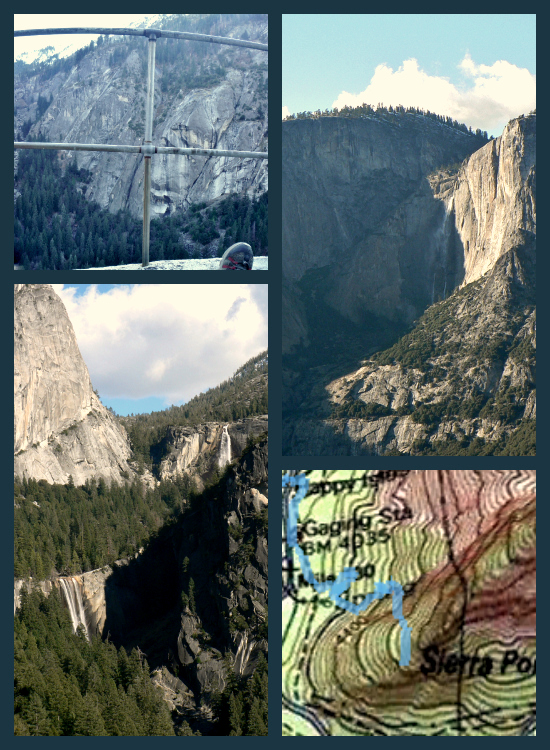 Sierra Point: 1 Tricky Hike, 5 Classic Yosemite Waterfalls