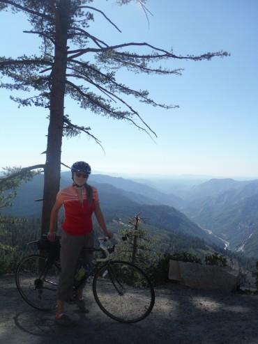 Biking Glacier Point Rd, Yosemite.