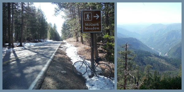 Biking Glacier Point Road - it is one big hill.