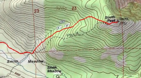 Smith Peak Topo Map