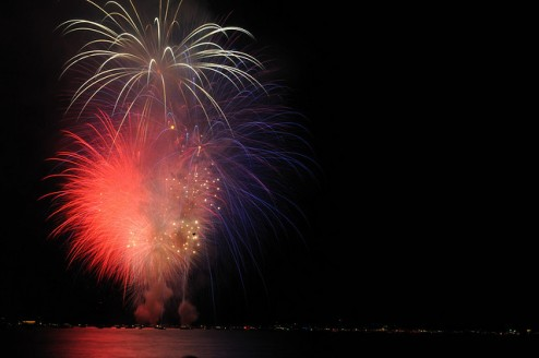 Fireworks over Lake Tahoe