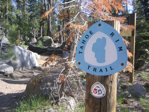 Tahoe Rime Trail Sign