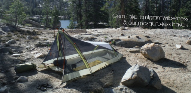 Camping at Gem Lake, Emigrant Wilderness