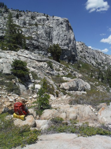 Backpacking in the Emigrant Wilderness, outside of Yosemite National Park CA