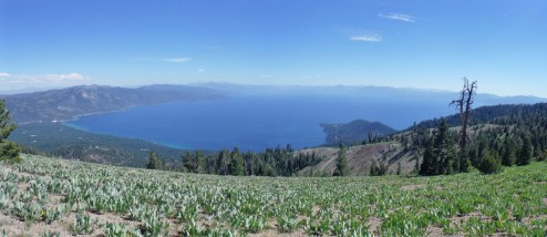 Vista of Lake Tahoe from Mount Baldy