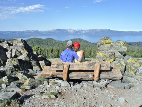 Kiwanis overlook bench, TRT