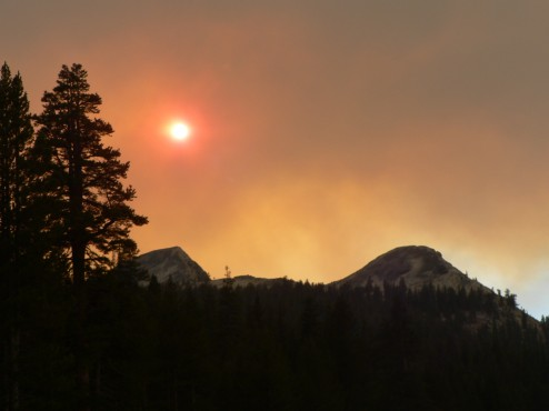 Fire eclipsing the sun