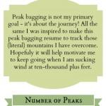 Peak Bagging Resume