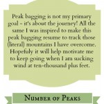 Beaut-tree Peak Bagging Resume