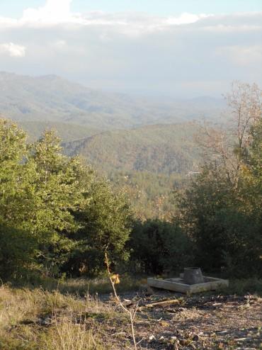 Latrine with view from Smith Peak, Groveland CA