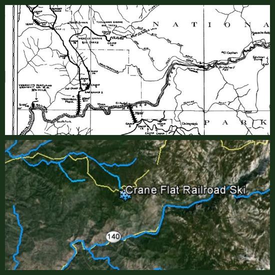 Yosemite Railroad Crane Flat Maps