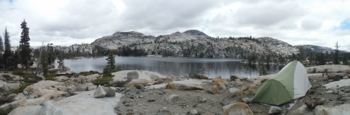 Camp at Boundary Lake, Yosemite National Park