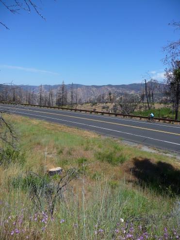 Biking Highway 120 from Rim of World to Groveland