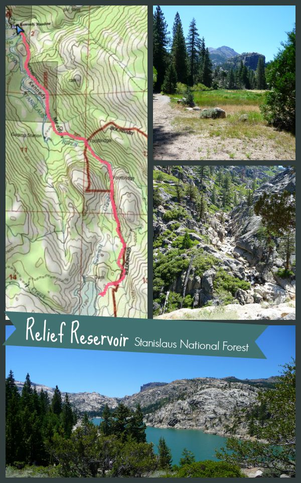 Hike to Relief Reservoir Trail Map