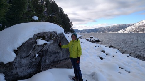 Rock on Lake Pend Oreille