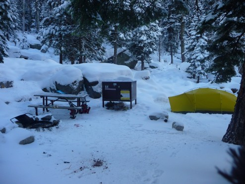 Lodgepole Campground in Winter