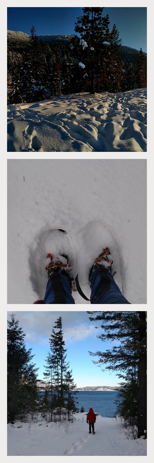 Snowshoeing at Lake Pend Oreille