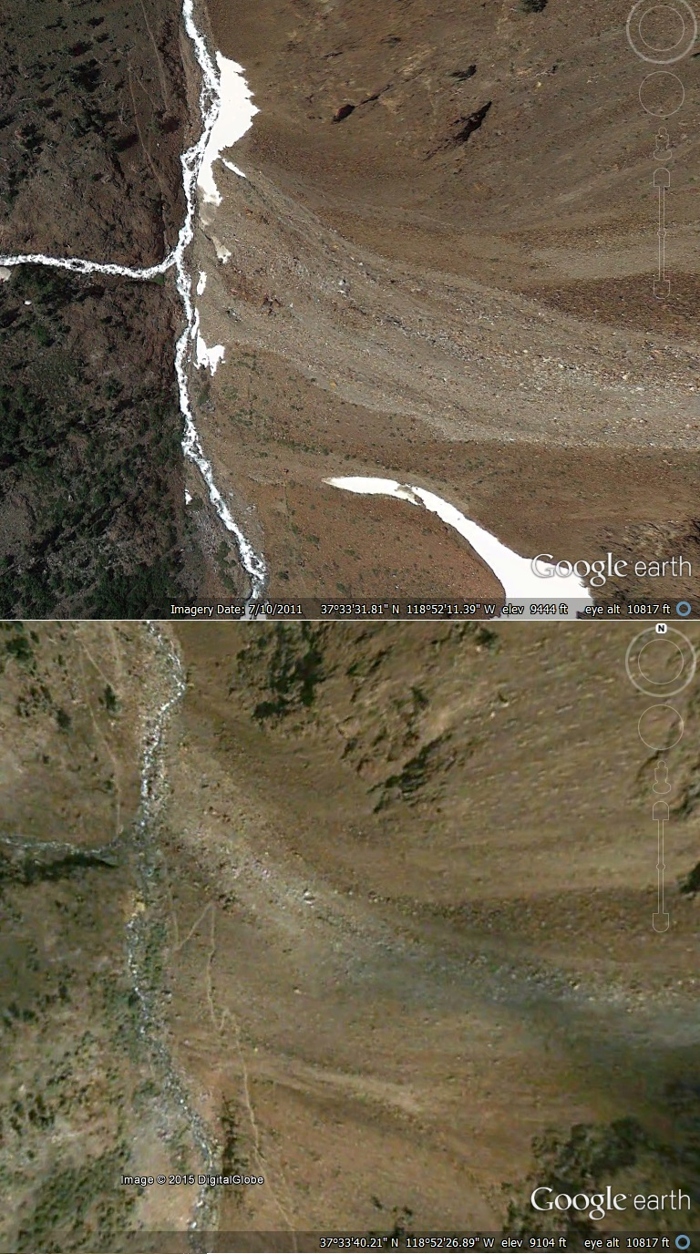 Convict creek before and after