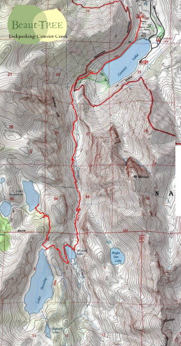 Convict Creek Backpacking Map
